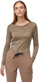 Audimas Fine Merino Wool Long Sleeve Top Pine Bark S