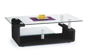 Kavos staliukas Cynthia juodas, 120 x 65 x 40 cm