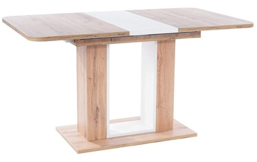 Обеденный стол Signal Meble Modern Twins, белый/дубовый, 1800x800x760мм
