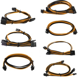 EVGA Power Supply Cable Set Orange/Black 100-G2-08KO-B9