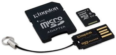 Kingston 64GB Micro SDXC Class 10 + SD adapter / USB Reader
