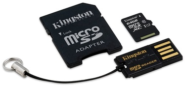 Mälukaart Kingston microSD Kit CL10, 64GB + adapteriai