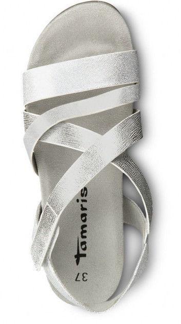 Basutės, Tamaris Sandal 1-1-28604-22 Silver Combination 38