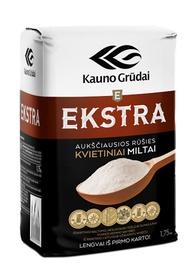 Kvietiniai miltai Ekstra Kauno grūdai, 405d, 1,75 kg