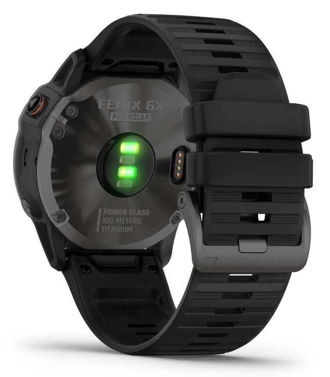 Garmin Fenix 6X Solar Sapphire Carbon Gray DLC with Black Band with Maps Music