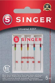Singer Universal Needle ASST For Woven Fabrics 5pcs