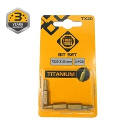 UZGALIS SKRŪVGRIEŽA TX20X25MM 3GB TIN (FORTE TOOLS)