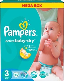 Pampers Active Baby-Dry S3 150