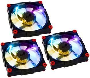In Win Aurora Fan 3er Set Black/Red