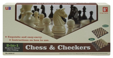 Stalo žaidimas U3 2in1 Chess & Checkers 525160025