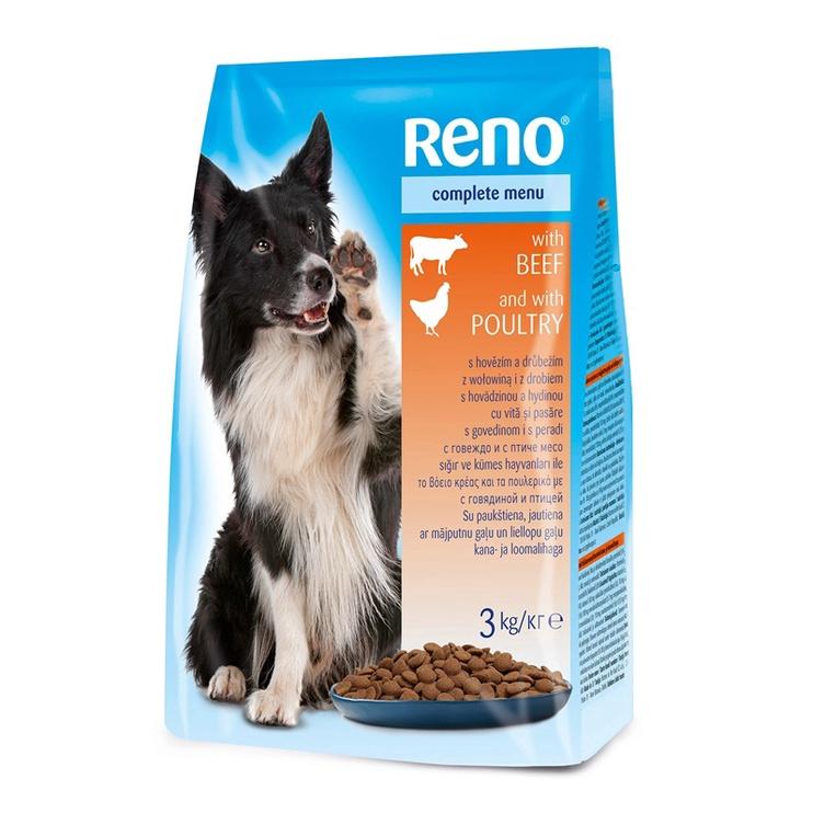 Сухой корм для собак Reno Complete Dog Food Beef & Chicken 3kg