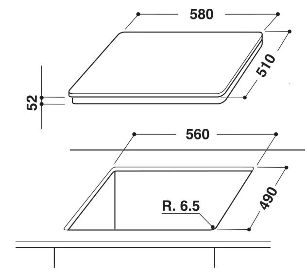 Integreeritav pliit Whirpool ACM808/BA/S