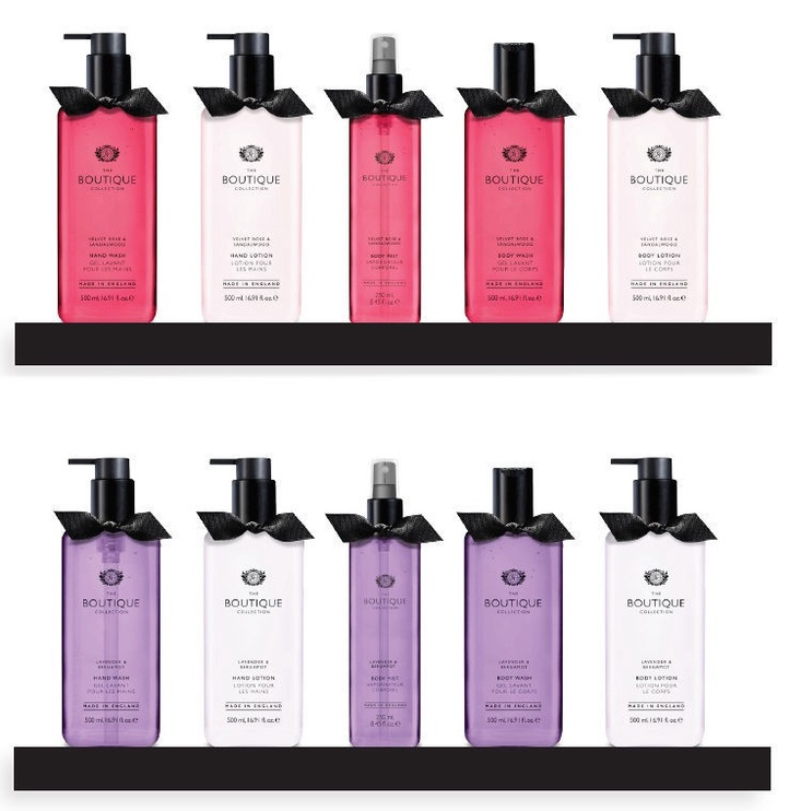 The English Bathing Company Boutique Hand Wash 500ml Velvet Rose & Sandalwood