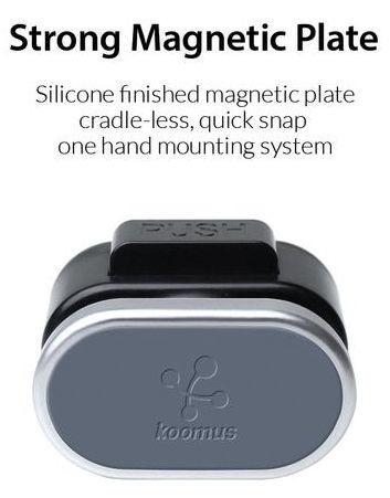Koomus CD Slot Smartphone Car Mount Black