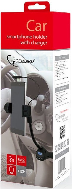 Gembird TA-CHU3 4-in-1 Car Smartphone Holder w/ Charger / FM-Transmitter / Handsfree