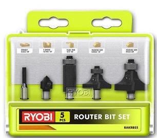 Ryobi RAKRBS5 Router Bit Set 5pcs