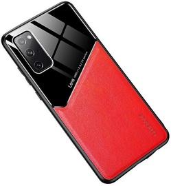 Чехол Mocco Lens Leather Back Case Xiaomi Redmi Note 9, черный/красный