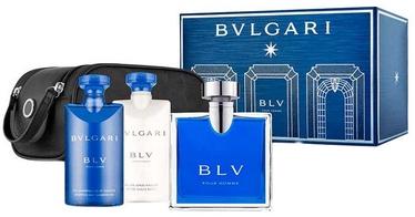Bvlgari BLV 100ml EDT + 75ml Shower Gel + 75ml Aftershave Balm + Bag