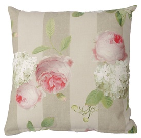 Home4you Holly Outdoor Pillow 45x45cm Stripe/Roses