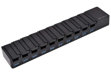 SilverStone USB Charging Station 10 Ports Black