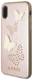 Guess Studs And Sparkle Hard Back Case For Apple iPhone X Rose Gold