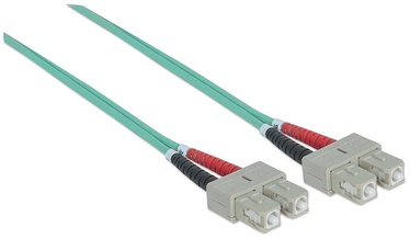 Intellinet Fiber Optic Patch Cable SC-SC Duplex OM3 Green 20m