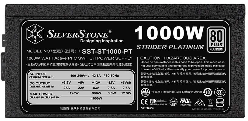 SilverStone PSU Strider 80 Plus Platinum ST1000-PT 1000W