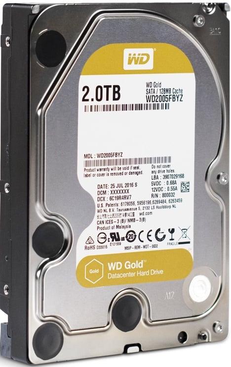 Serveri kõvaketas (HDD) Western Digital WD2005FBYZ, 128 MB, 2 TB