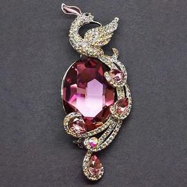 Diamond Sky Brooch Fairy Peacock III With Swarovski Crystals
