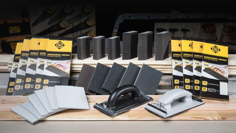 Šlifavimo kempinė Forte Tools, NR100, 125x90x26 mm, 1 vnt.