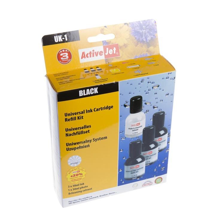 ActiveJet Cartridge Refill Kit UK-1 Black