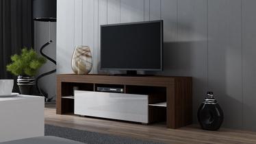 TV staliukas Pro Meble Milano 160 With Light Walnut/White, 1600x350x450 mm