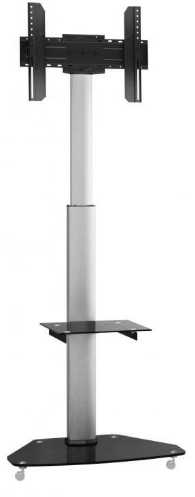 Sbox FS-500 Floor Flat Screen LED TV Stand Black/Silver