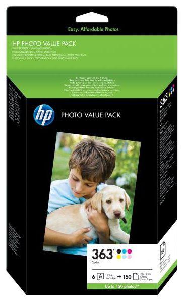 Rašalinio spausdintuvo kasetė HP NO 363 6-Pack + Photo Paper
