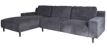 Kampinė sofa Home4you Hilde Blue/Black, kairinė, 288 x 173 x 88 cm