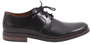 Clarks 261231487 Becken Plain Leather Shoes Black 41