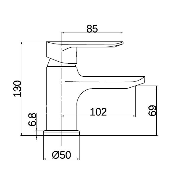 Praustuvo maišytuvas DF11601