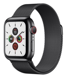 Apple Watch Series 5 40mm GPS Space Black Stainless Steel Case with Milanese Loop Cellular