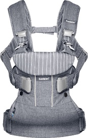 BabyBjorn Baby Carrier One Grey/Pinstripe Cotton