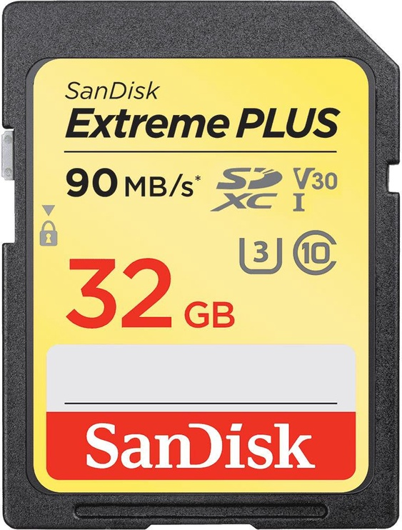 SanDisk Extreme Plus 32GB SDHC UHS-I Class 10