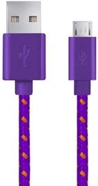 Esperanza Braided Cable USB to USB-micro Violet 1m