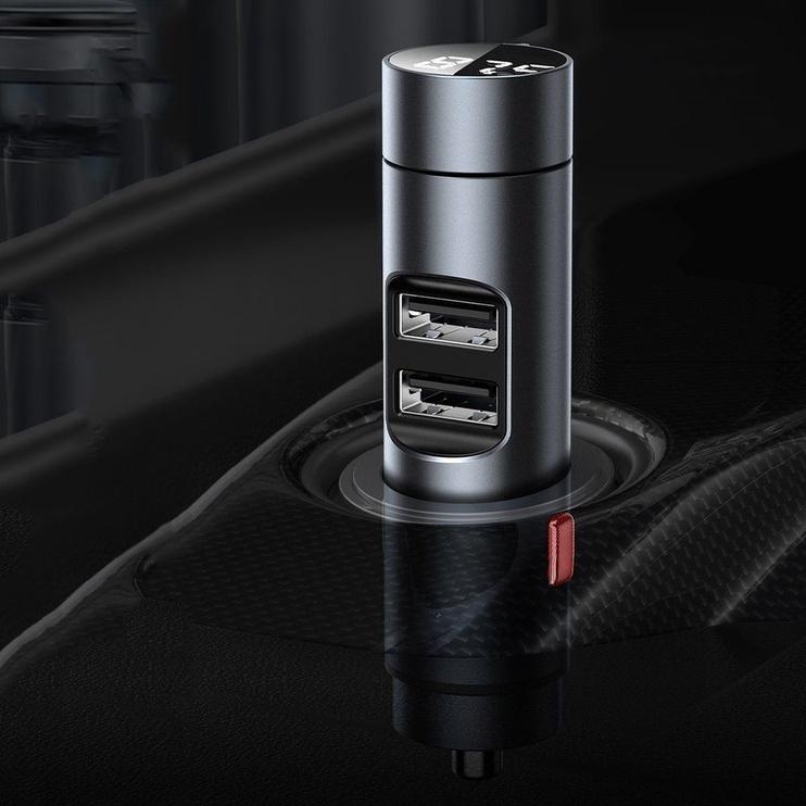 Baseus Energy Column Bluetooth FM Transmitter Silver