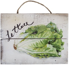 Home4you Wooden Printed Picture Country 15x20cm Lettuce 83769