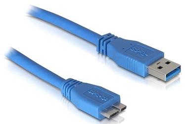 Delock Cable USB / USB-micro Blue 1m