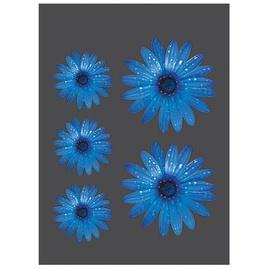 SN Car Stickers Flowers Blue 5pcs
