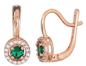 Diamond Sky Gold Earrings Hearts & Arrows II