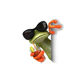 SN Car Sticker Frog with Juice