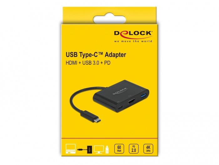 Адаптер Delock 64091, HDMI / Thunderbolt 3 / USB Type-C