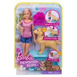 Žaislinė lėlė barbė su šunyčiais Barbie FBN17, 32 cm