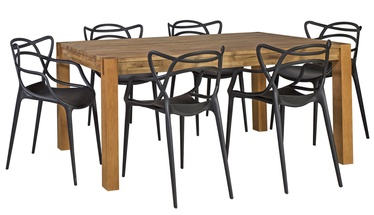 Home4you Chicago/Butterfly Dining Room Set Oak/Black